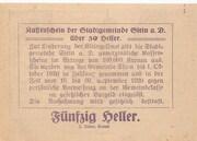 50 Heller (Stein an der Donau) – reverse