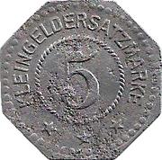 5 Pfennig - Steinach – reverse