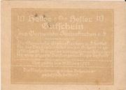 10 Heller (Steinakirchen) – reverse