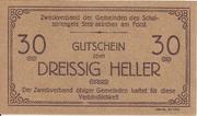 30 Heller (Steinakirchen am Forst - Zweckverband der Gemeinden des Schulsprengels) – obverse