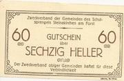 60 Heller (Steinakirchen am Forst - Zweckverband der Gemeinden des Schulsprengels) – obverse