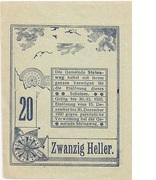 20 Heller (Steinaweg) – reverse