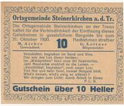 10 Heller (Steinerkirchen an der Traun) -  obverse