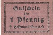 1 Pfennig (F. Hessenland) – obverse
