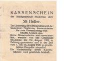50 Heller (Stockerau) – reverse