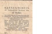 20 Heller (Stockerau) – reverse
