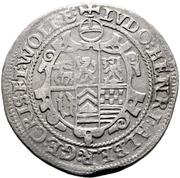 ½ Thaler -  Ludwig II., Heinrich XXI, Albrecht Georg, Christof I. and Wolfgang Ernst – obverse