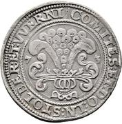 ½ Thaler -  Ludwig II., Heinrich XXI, Albrecht Georg, Christof I. and Wolfgang Ernst – reverse