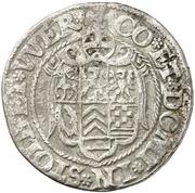 ¼ Thaler - Ludwig II., Heinrich XXI., Albrecht Georg, Christoph I. and Wolf Ernst – reverse