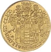½ Ducat - Karl Ludwig and Heinrich Christian Friedrich – reverse