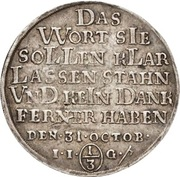 ⅓ Thaler - Christof Friedrich and Jost Christian (Reformation) – reverse