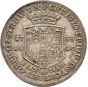 ⅙ Thaler - Jost Christian and Christof Ludwig II. – obverse