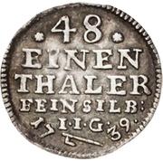 1/48 Thaler - Jost Christian and Christof Ludwig II – reverse