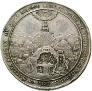 1 Thaler - Christof Ludwig I (Ausbeutetaler) – reverse