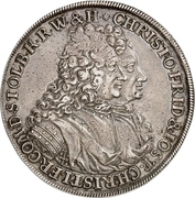 1 Thaler - Christof Friedrich and Jost Christian (Ausbeute) – obverse