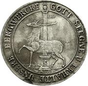 1 Thaler - Christof Friedrich and Jost Christian – reverse