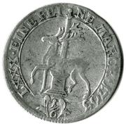 """⅙ Thaler - Friedrich Botho and Karl Ludwig (with """"C"""") – reverse"""