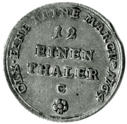 """1/12 Thaler - Friedrich Botho and Karl Ludwig (with """"C"""") – reverse"""