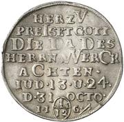 1/12 Thaler - Christof Friedrich and Jost Christian (Reformation) – reverse