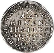 1/12 Thaler - Christof Friedrich and Jost Christian -  reverse