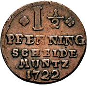 1½ Pfenning - Christof Friedrich and Jost Christian – reverse