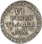 ⅙ Thaler - Karl Ludwig and Heinrich Christian Friedrich (Ausbeute) – obverse
