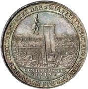 1 Thaler - Christof Friedrich and Jost Christian (Reformation; Ausbeutetaler) – reverse