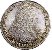 1 Thaler - Christof Friedrich & Jost Christian (Contract of seperation) – obverse