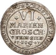 6 Mariengroschen - Christoph Friedrich and Jost Christian (Ausbeute) – obverse