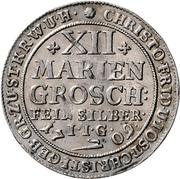 12 Mariengroschen - Christoph Friedrich and Jost Christian (Ausbeute) – obverse