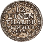 1/12 Thaler - Jost Christian and Christof Ludwig II (Ausbeute) – obverse