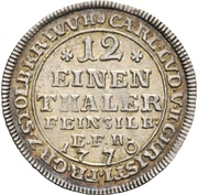 1/12 Thaler - Karl Ludwig and Heinrich Christian Friedrich (Ausbeute) – obverse