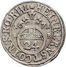 1 Groschen - Heinrich Ernst I. – obverse