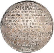 ½ Thaler - Ludwig Christian (Death) – reverse