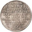 ¼ Thaler - Ludwig Christian (Death) – reverse