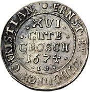 16 Gute Groschen - Ernst and Ludwig Christian – obverse