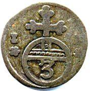 1 Dreier - Heinrich Ernst I. – reverse