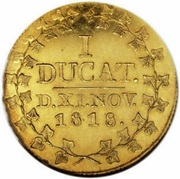 1 Ducat - Christian Friedrich (Golden wedding) – reverse