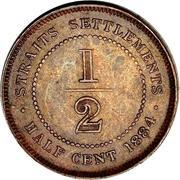 ½ Cent - Victoria – reverse