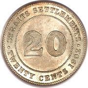 20 Cents - Edward VII – reverse