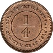 ¼ Cent - George V – reverse
