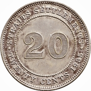 20 Cents - George V – reverse