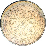 1 Dollar - Edward VII -  reverse