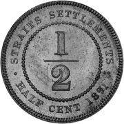 ½ Cent - Victoria (Trial Strike) – reverse