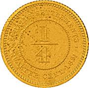 ¼ Cent - Victoria (Trial Strike) – reverse
