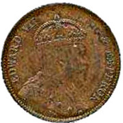 ¼ Cent - Edward VII – obverse