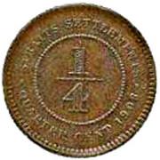 ¼ Cent - Edward VII – reverse