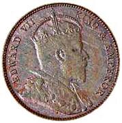 ½ Cent - Edward VII – obverse