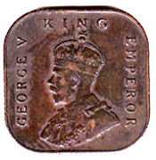 ½ Cent - George V – obverse