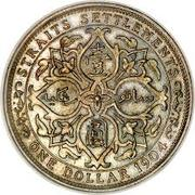 1 Dollar - Edward VII – reverse